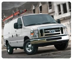 White ford van