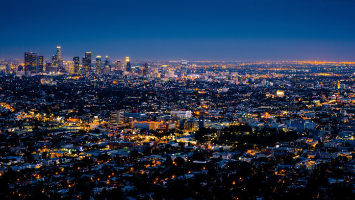 Los Angeles in the night