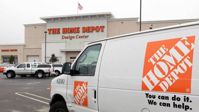 van with home depot logo