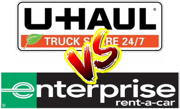 Logo of U Haul and Enterprise